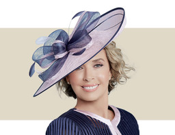 LILIA - Light Pink and Navy Blue