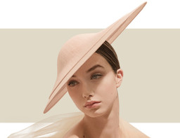 OVERLAYED DOME HAT - Pale Pink