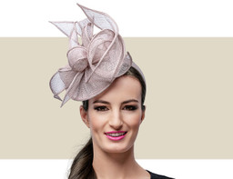 MARCEY FASCINATOR HAT - Taupe