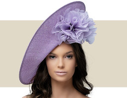 ROUCHED ROSETTE SLICE - Lilac