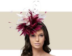 CHRISTIANE - Burgundy and Blush Pink
