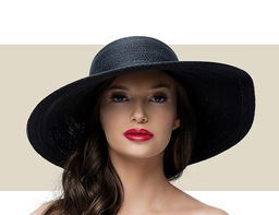 SMALL SUN HAT - Black