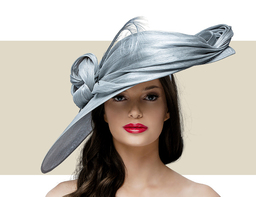 MERTA HAT - Metallic Silver