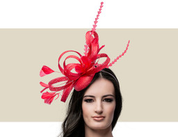 FEATHER HEADPIECE - Red