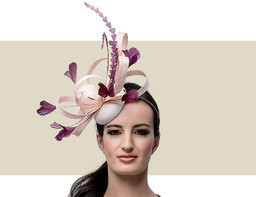 FEATHER HEADPIECE - Blush Pink and Purple