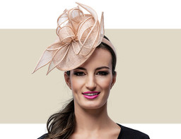 MARCEY FASCINATOR HAT - Nude