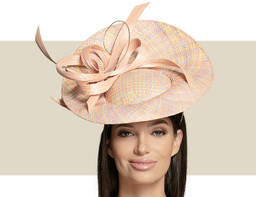 WOVEN UPTURNED BRIM HAT - Multicolor Pastels
