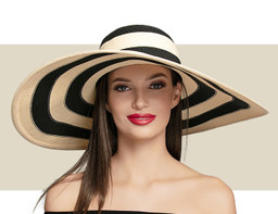 SUNNY - Ivory with Black Stripe