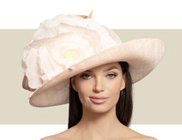 SMALL OVAL HAT - Pale Pink