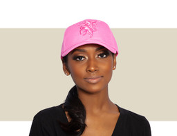 DESIGNER BASEBALL CAP - Hot Pink