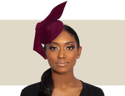 STRUCTURED COCKTAIL HAT - Burgundy