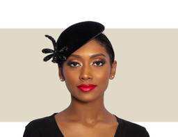 WOMENS DRAGONFLY BERET - Black