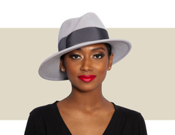 AIREDALE WOMENS FEDORA - Two-Tone Grey