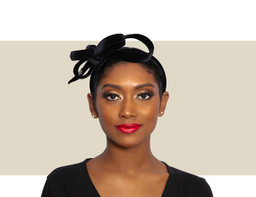 VELVET HEADDRESS - Black