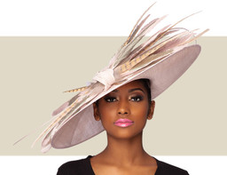 MONROE COUTURE HAT - Blush Pink