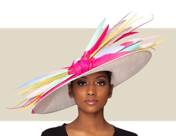 MONROE COUTURE HAT - Bright Multi Color
