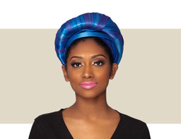 EVITA TURBAN HEADBAND - Royal Blue Tones