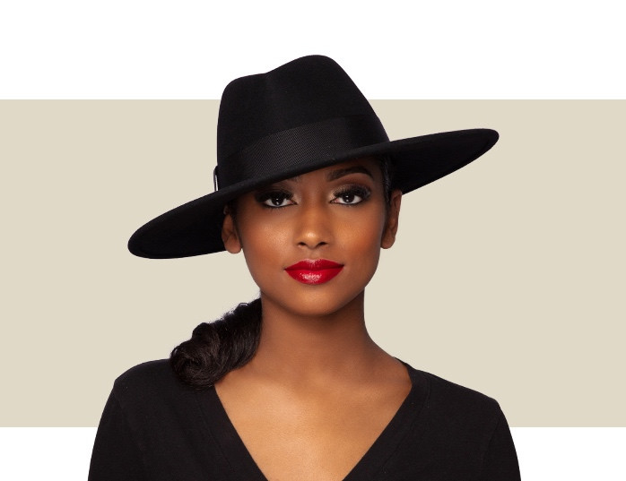 HARLOWE WOMEN'S FEDORA - Black - Gold Coast Couture