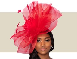 ROSE WOMEN'S FASCINATOR - Red