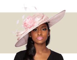 SOFIA FASCINATOR HAT - Pink Lurex