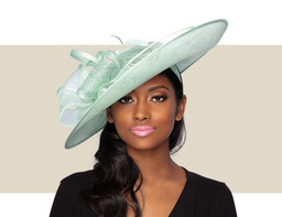 ELENA FASCINATOR HAT - Mint Green