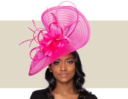 LUNA FASCINATOR - Hot Pink