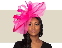 ALESSIA FASCINATOR - Hot Pink