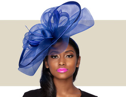 ALESSIA FASCINATOR - Cobalt Blue