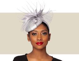 MARA COCKTAIL HAT - Silver