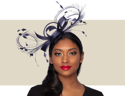 WISPY FASCINATOR - Navy Blue