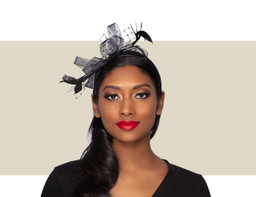 PIXIE FASCINATOR - Black