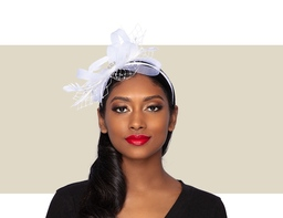 PIXIE FASCINATOR - White