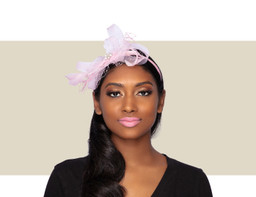 PIXIE FASCINATOR - Blush Pink