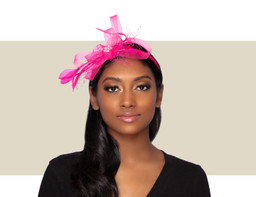 PIXIE FASCINATOR - Hot Pink