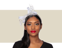 PIXIE FASCINATOR - Silver