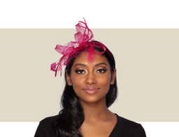 PIXIE FASCINATOR - Burgundy