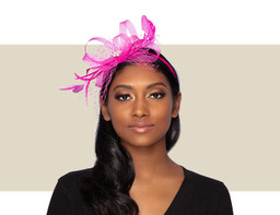 PIXIE FASCINATOR - Fuchsia
