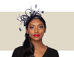 LIBBY FASCINATOR - Navy Blue