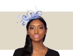 LIBBY FASCINATOR - Sky Blue