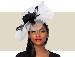 BELLISSIMO FASCINATOR - Ivory and Black