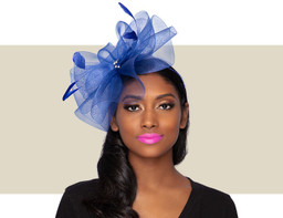 LANGLEY FASCINATOR - Cobalt Blue