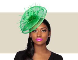 TESSA Fascinator Wedding Hat - Summer Green