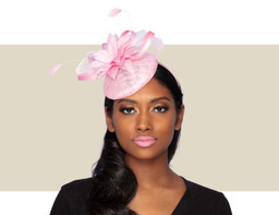 TISHA Cocktail Fascinator Wedding Hat - Wild Rose