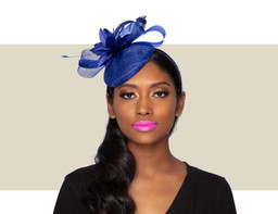 TISHA FASCINATOR - Cobalt Blue