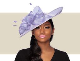JUSTINA FASCINATOR HAT - Lilac