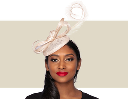 LAYLA COCKTAIL HAT - Natural