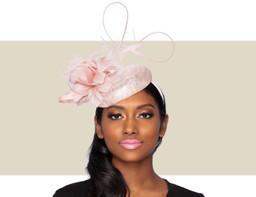 PRETTY PINK COCKTAIL HAT - Pink Lurex