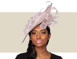 CALLEY FASCINATOR HAT - Pink Lurex