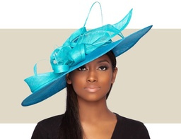 GIANNA FASCINATOR HAT - Blue Turquoise
