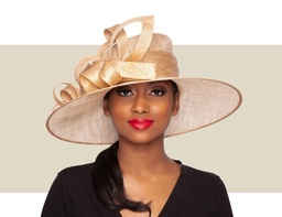 AVA HAT - Metallic Gold